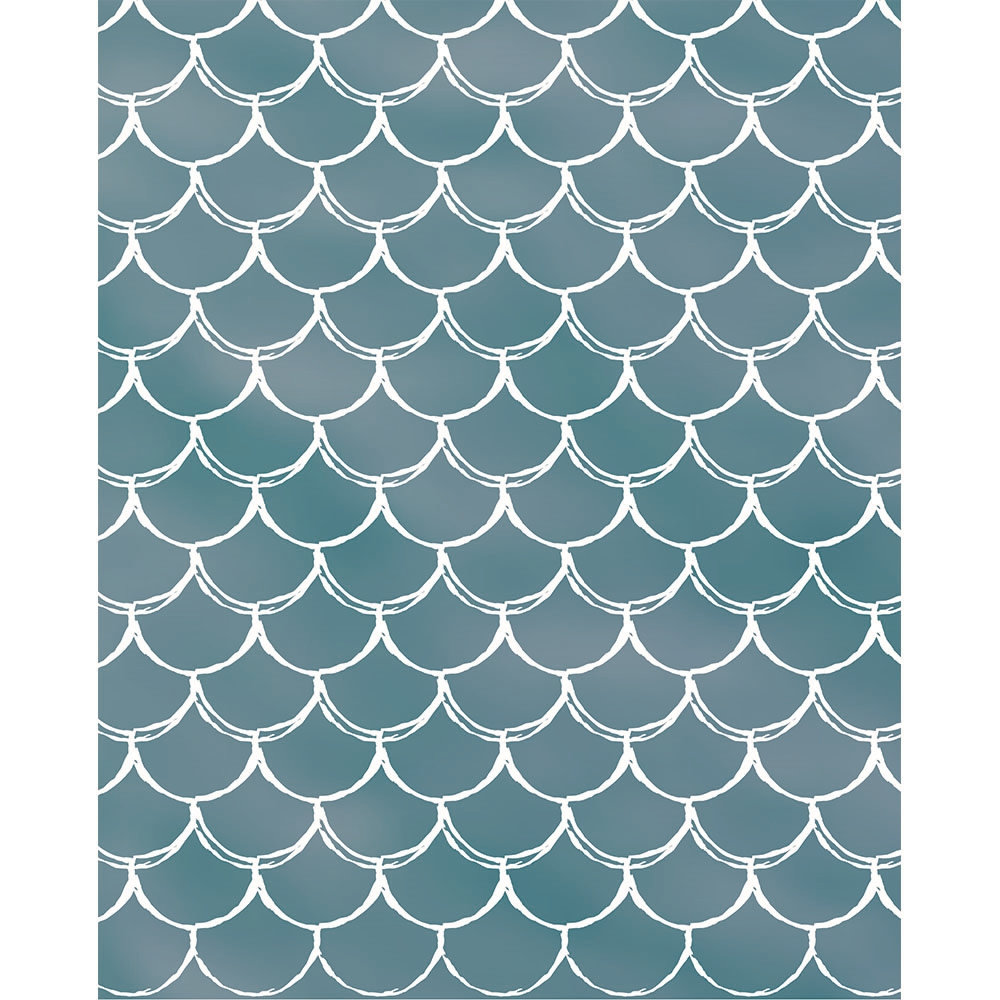 Aqua Mermaid Scales Printed Backdrop Backdrop Express
