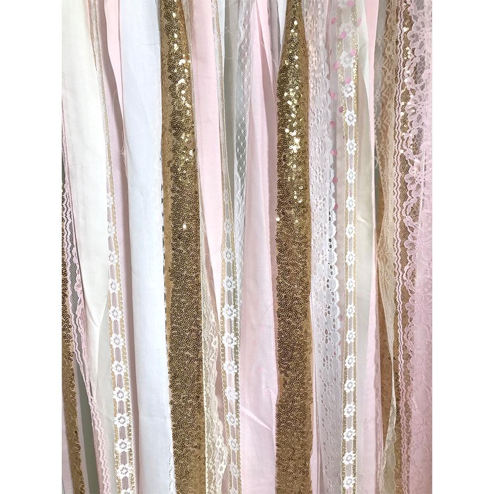 Pink Amp Gold Fabric Garland Backdrop Backdrop Express