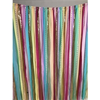 Rainbow Fabric Garland Backdrop