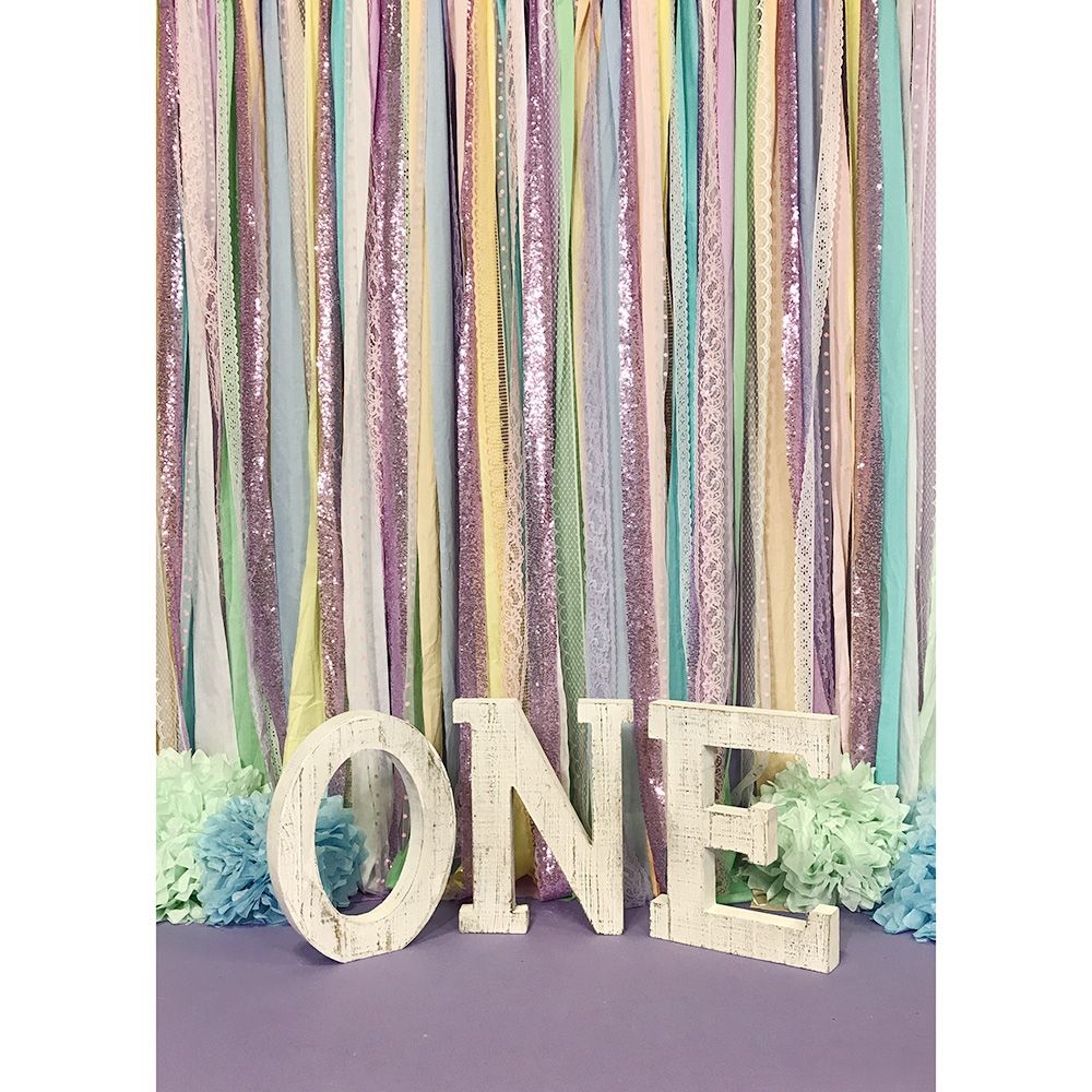 Unicorn Fabric Garland Backdrop Backdrop Express