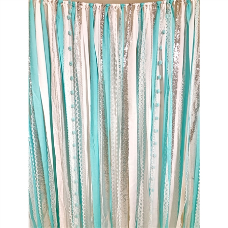 Ice Princess Fabric Garland Backdrop