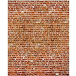 Bright Red Brick Printed Backdrop