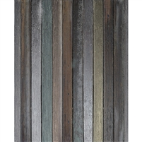 Shades of Teal Wood Floordrop
