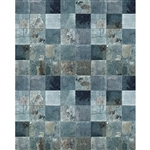 Distressed Blue Tile Floordrop