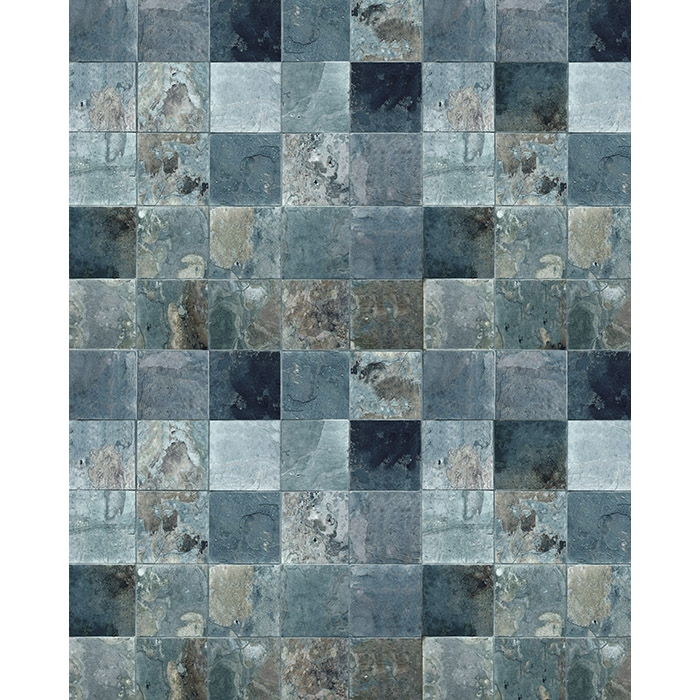 Distressed Blue Tile Floordrop Backdrop Express