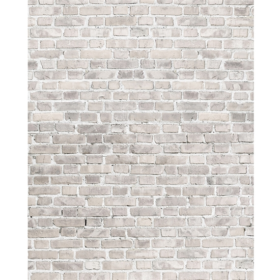 Soft Gray Brick Printed Backdrop