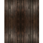 Dark Brown Planks Printed Backdrop