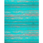 Peeling Teal Planks Printed Backdrop