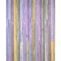 Purple & Yellow Wood Planks Floordrop
