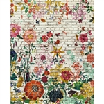 Classic Floral Brick Printed Backdrop - Premium Fabric - 10ft (w) x 8ft (h)