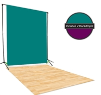 Teal & Puple Backdrop / Floordrop Set