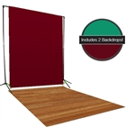 Red & Green Backdrop / Floordrop Set
