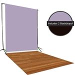 Brown & Lilac Backdrop / Floordrop Set