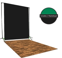 Black & Green Backdrop / Floordrop Set
