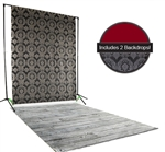 Damask & Red Backdrop / Floordrop Set