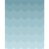Light Blue Ombre Printed Backdrop