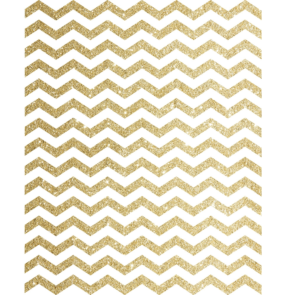 Gold Glitter Chevron Printed Backdrop Backdrop Express