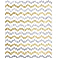 Silver and Gold Glitter Chevron Printed Backdrop