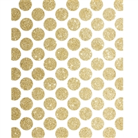Gold Glitter Polka Dots Printed Backdrop