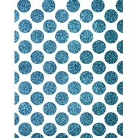Teal Glitter Polka Dot Printed Backdrop