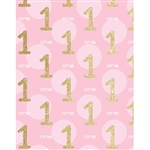 Gold 1st Birthday Printed Backdrop
