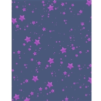 Blue and Purple Glitter Stars Printed Backdrop