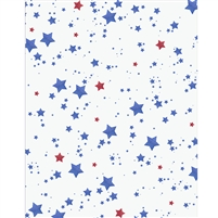 Patriotic Glitter Stars Printed Backdrop