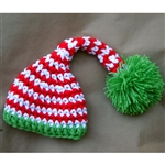Striped Christmas Elf Hat
