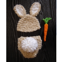 Bunny Hat & Diaper Cover