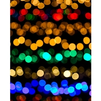 Bokeh Christmas Lights Printed Backdrop