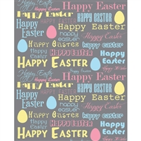 Happy Easter Pastels Printed Backdrop