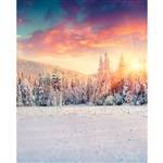Winter Sunrise Printed Backdrop