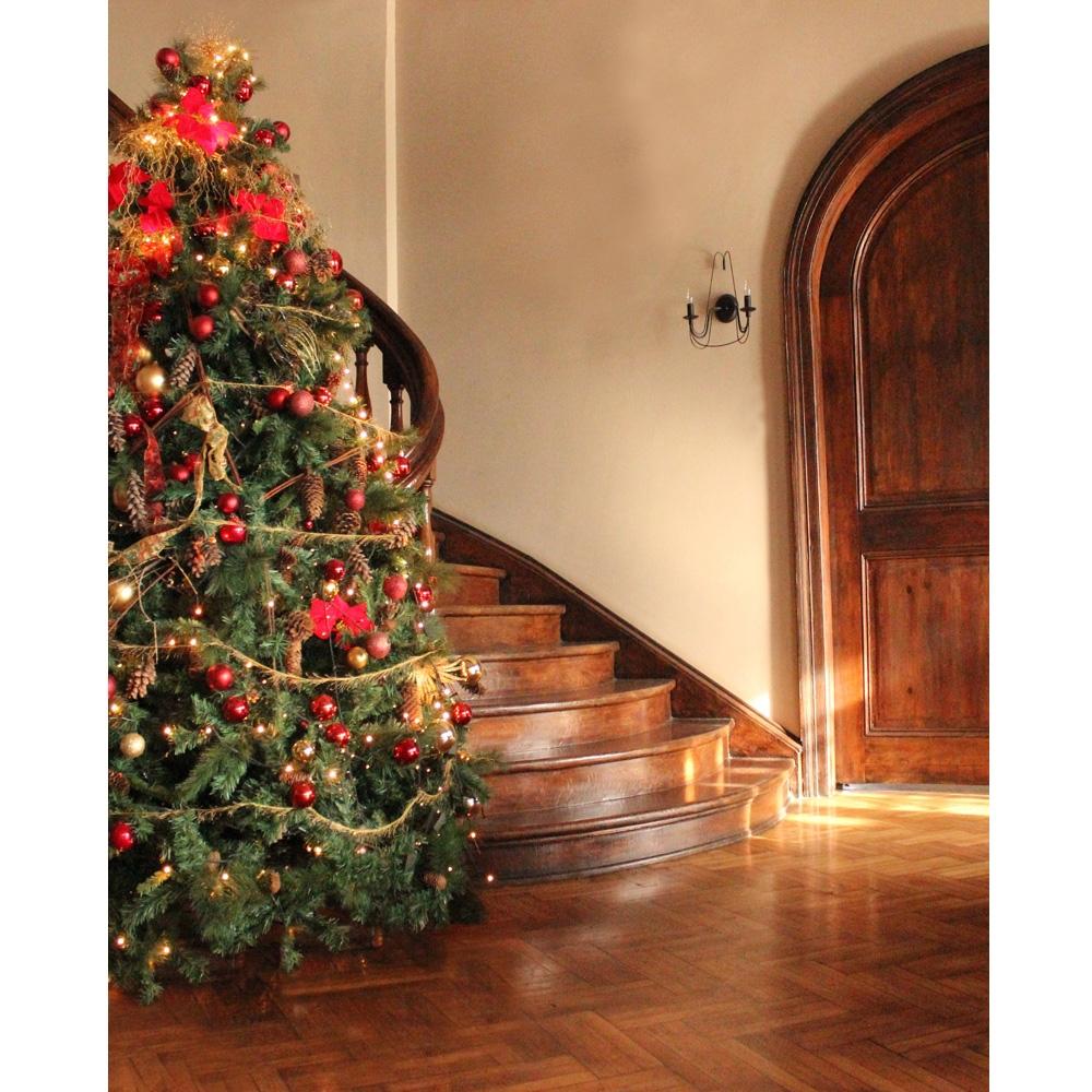 Christmas Staircase Printed Backdrop Backdrop Express