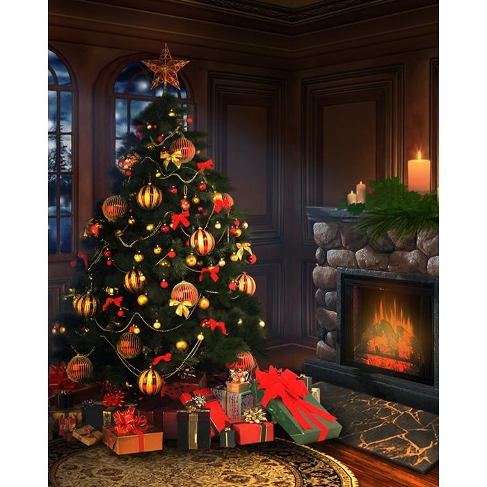 Christmas Eve Printed Backdrop Backdrop Express