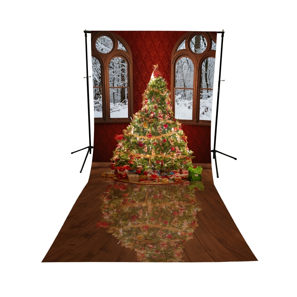 Christmas Ballroom Printed Backdrop Backdrop Express