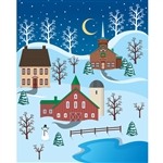 Winter Village Printed Backdrop