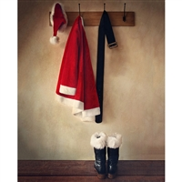 Santa's Coat Rack Printed Backdrop