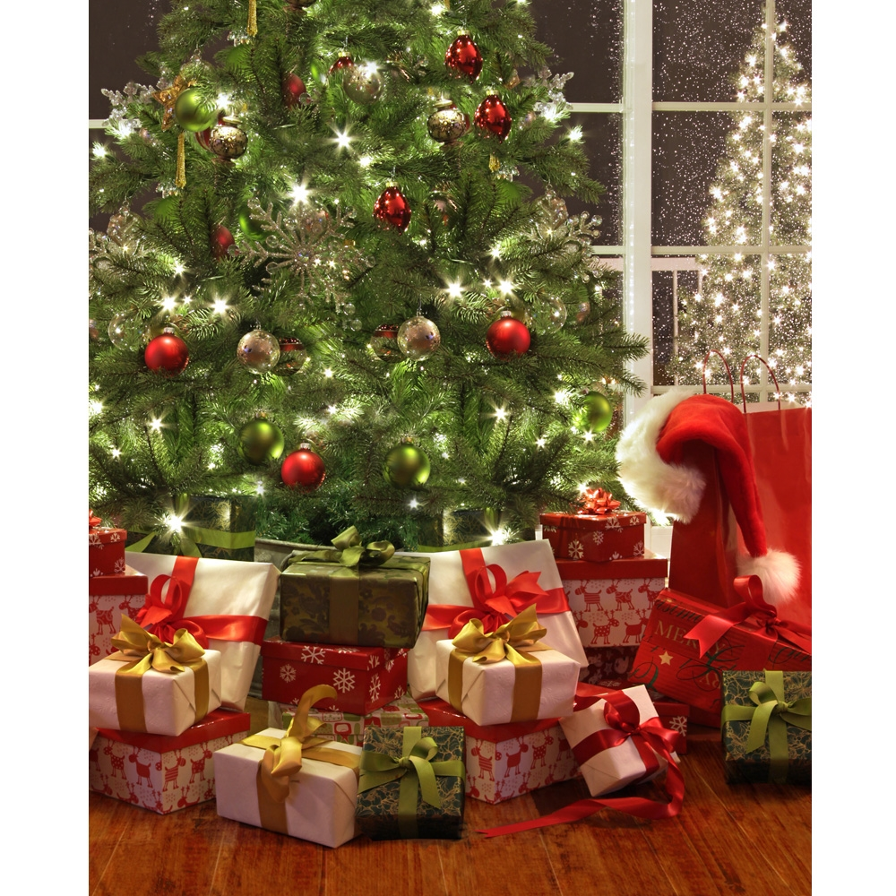Christmas is here printed backdrop backdrop express Photoshop santa in your living room free