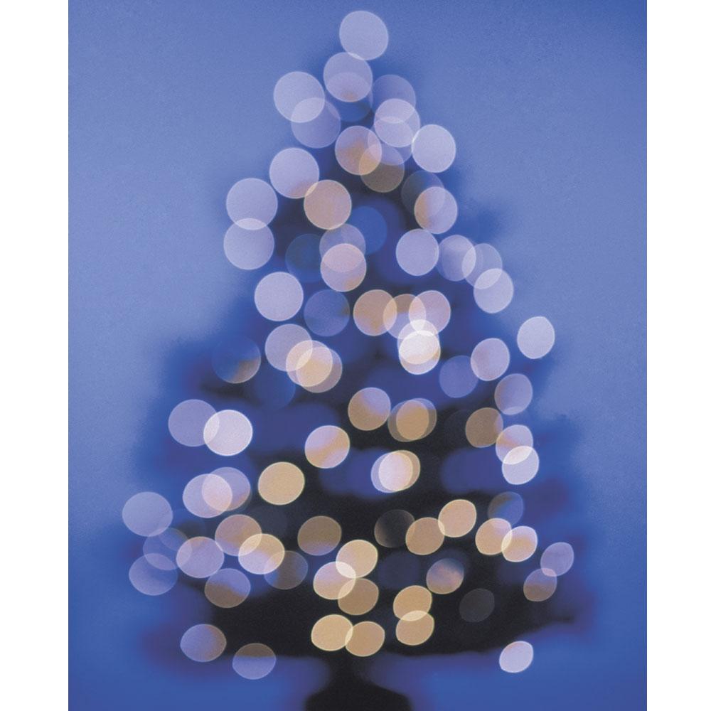 Blue Bokeh Christmas Tree Printed Backdrop Backdrop Express