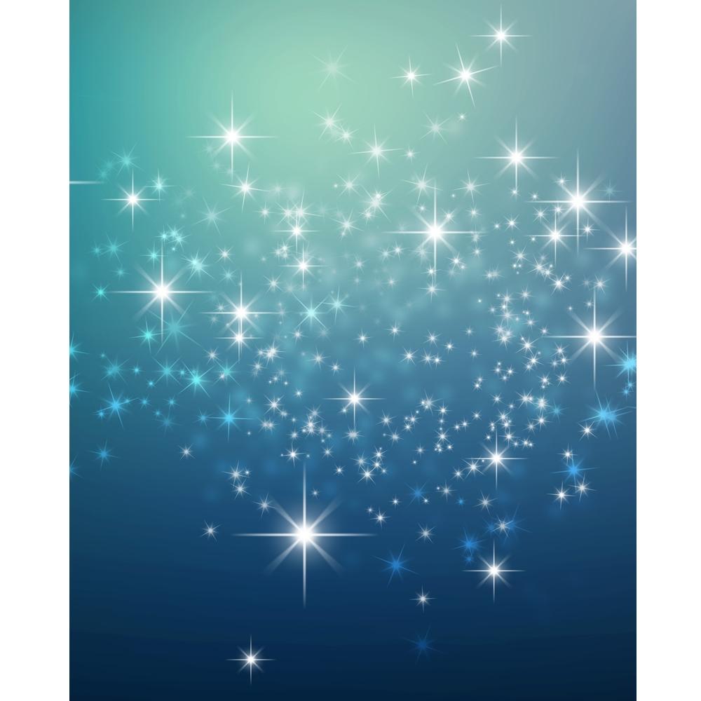 Deep Blue Sparkles Printed Backdrop Backdrop Express