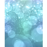 Sparkling Blue Bokeh Printed Backdrop