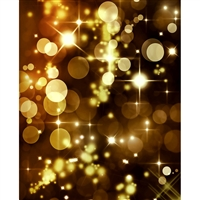 Gold Bokeh Printed Backdrop