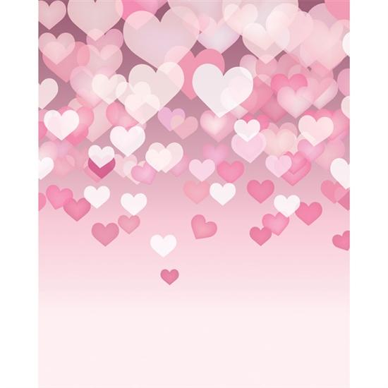 Floating Hearts Printed Backdrop Backdrop Express