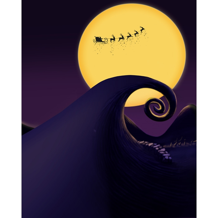 Nightmare Before Christmas Printed Backdrop Backdrop Express