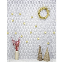 Holiday Lace Printed Backdrop