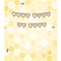 """What Will it Bee?"" Gender Reveal Backdrop"