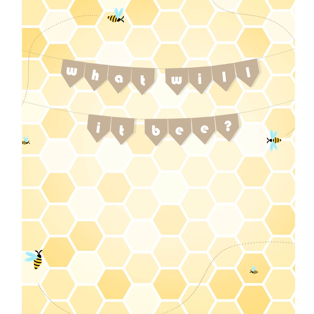 Quot What Will It Bee Quot Gender Reveal Backdrop Backdrop Express