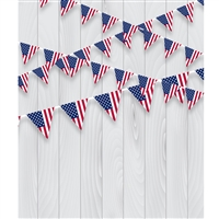 American Bunting Printed Backdrop