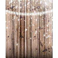 Lights on Rustic Wood Planks