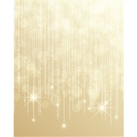 Falling Gold Stars Printed Backdrop